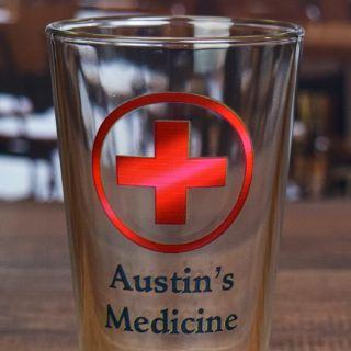 Printed Medicine Pint Glass