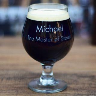 Engraved Beer Royalty Belgian Beer Glass