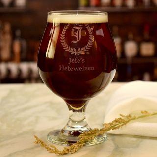 Engraved Custom Brand Belgian Beer Glass