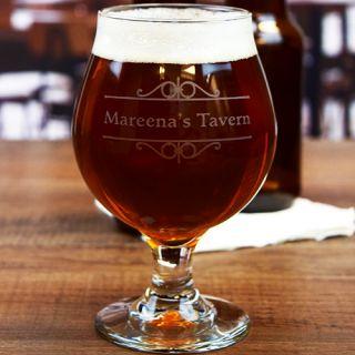 Engraved Personal Bar Belgian Beer Glass