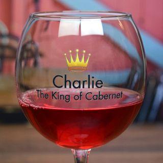 Printed Royalty Balloon Wine Glass