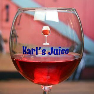 Printed Juice Balloon Wine Glass