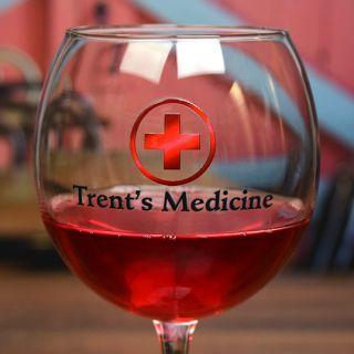 Printed Medicine Balloon Wine Glass