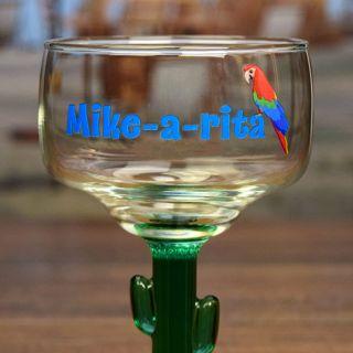 Printed Name-A-Rita Cactus Margarita Glass