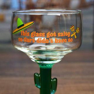 Printed Salty Cactus Margarita Glass