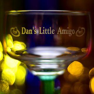 Engraved Little Amigo Cactus Margarita Glass