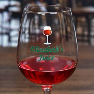 Printed Juice Contour Wine Glass