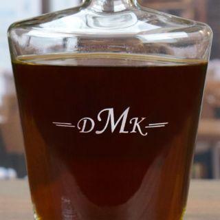 Engraved Classic Monogram Liquor Decanter