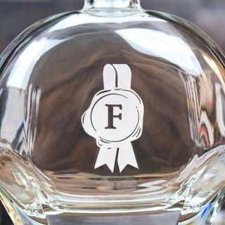 Engraved Emblem Liquor Decanter