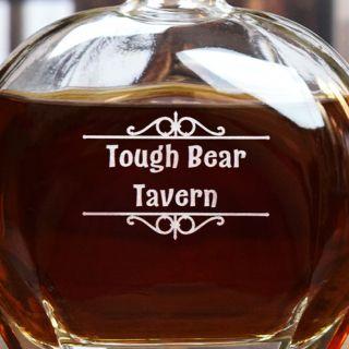 Engraved Personal Bar Liquor Decanter