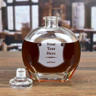 Engraved Label Round Liquor Decanter