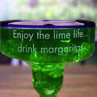 Engraved Fun Handmade Margarita Glasses (Set of 2)
