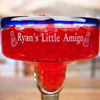 Engraved Little Amigo Handmade Margarita Glass