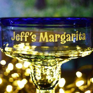 Engraved Personal Handmade Margarita Glass