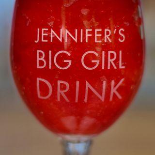 Engraved Big Boy/Girl Drink Hurricane Glass