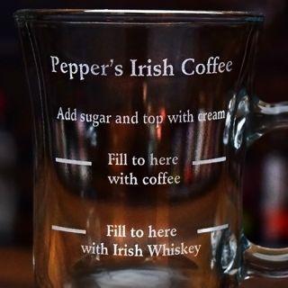 Engraved Recipe Irish Coffee Mug