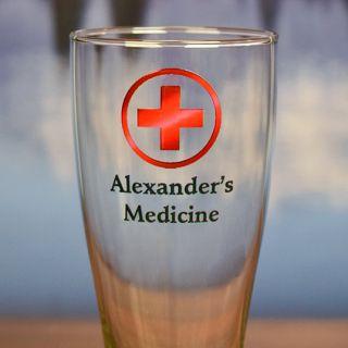 Printed Medicine Pilsner Glass