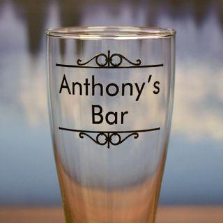 Printed Personal Bar Pilsner Glass