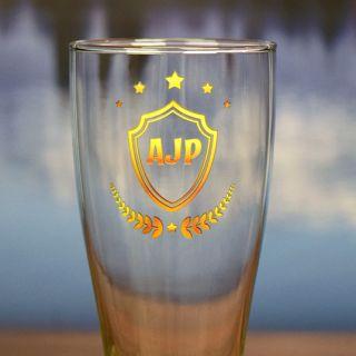 Printed Monogram Pilsner Glass