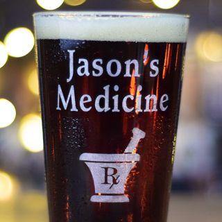 Engraved Medicine Pint Glass