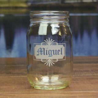 Engraved Personal Round Mason Jar