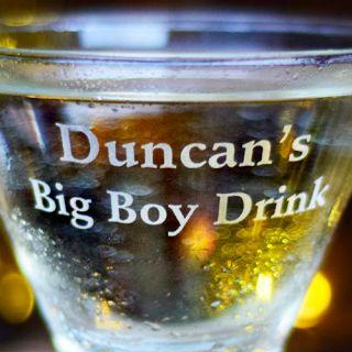 Engraved Big Boy / Big Girl Stemless Martini Glass