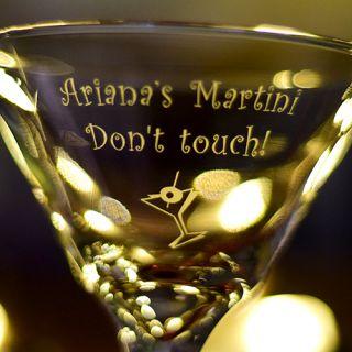 Engraved Personal Z-Stem Martini Glass